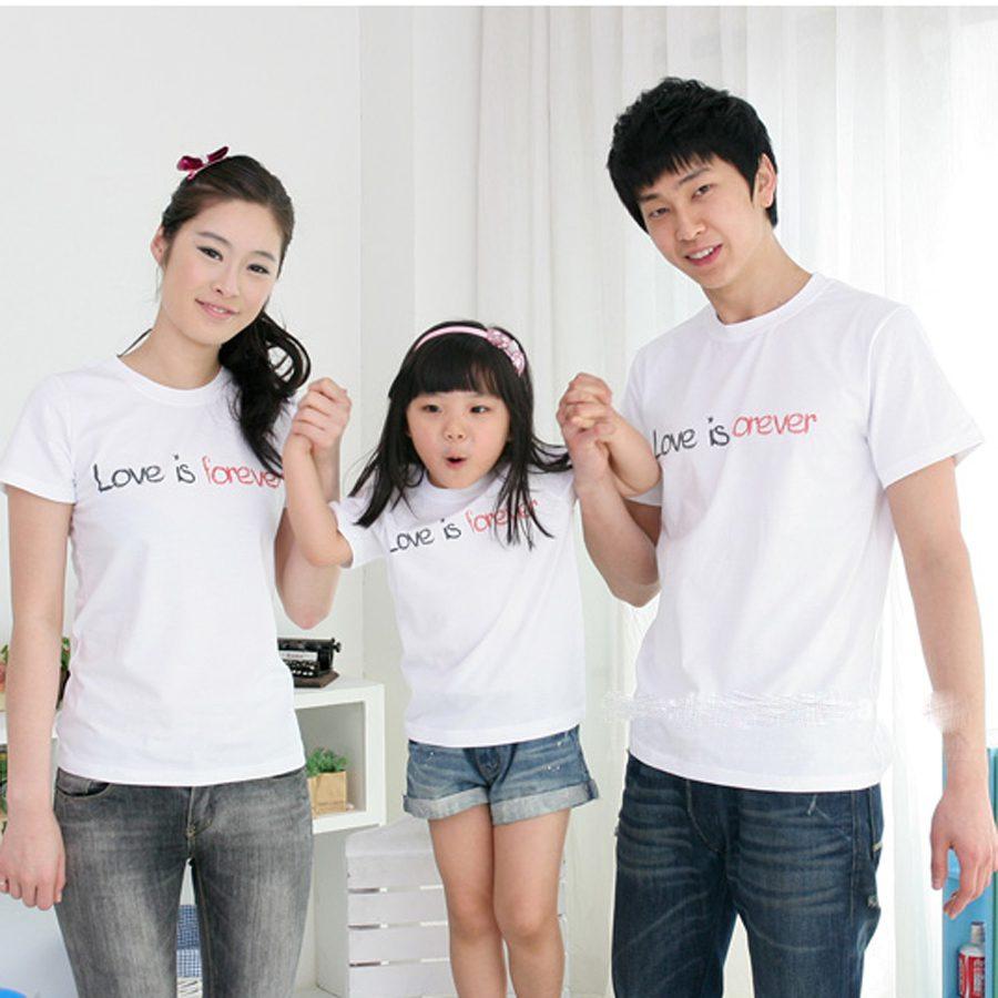 Thiết kế đồng phục gia đình cho gia đình thêm gắn bó