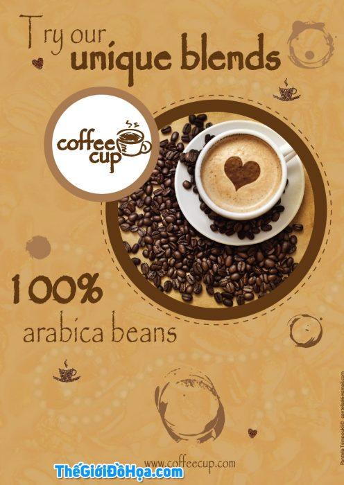 thiet ke poster quang cao cho quan cafe2