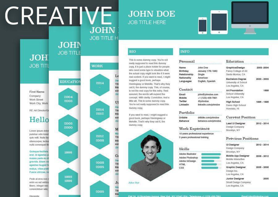 top mẫu thiết kế profile cá nhân sáng tạo cá tính
